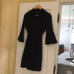 Banana Republic black coat dress size 0